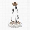 ELK Lighting Boudreaux 7-Light Chandelier In Satin Brass With Clear Glass