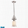 ELK Lighting Chadwick 1-Light LED Mini Pendant In Polished Nickel And White Glass