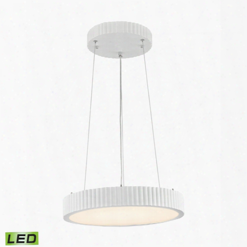 Elk Lighting Digby 24 Watt Led Pendant In Matte White