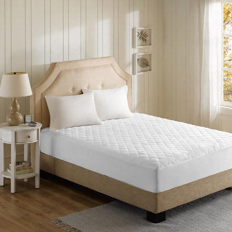 Beautyrest Cotton Blend Heated Cotton Mattress Pad In White