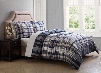 PEM America London Fog Cornwall Natural 7 Piece King Bed Ensemble