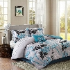 Madison Park Essentials Claremont Printed Microfiber Complete Bed and Sheet Set in Aqua