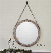 Uttermost Loughlin Round Wood Mirror