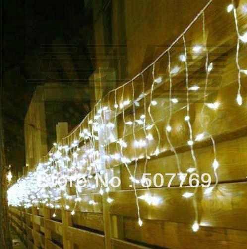 10*0.65m 378leds Lights Flashing Led String Icicle Lamps Curtain Christmas Home Garden Festival