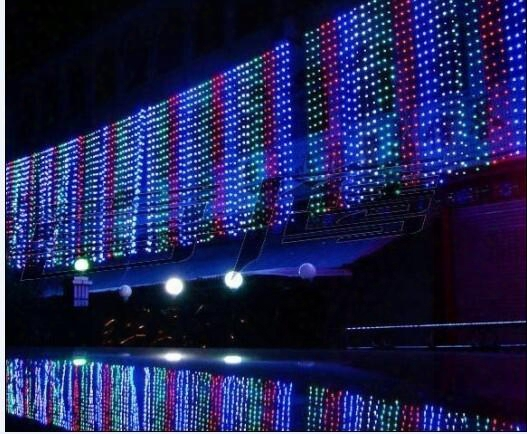 2015 500 Led Curtain Light 10m*1.5m 110- 220v Christmas Xmas Outdoor String Fairy Lights Wedding Party Decoration Lamps Au Eu Us Uk Plug