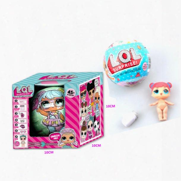 2017 Hottest 7cm Send Random Dress Change Lol Surprise Action Figure Doll Baby Tear Open Color Change Egg Blind Bag Doll Mashems Toys