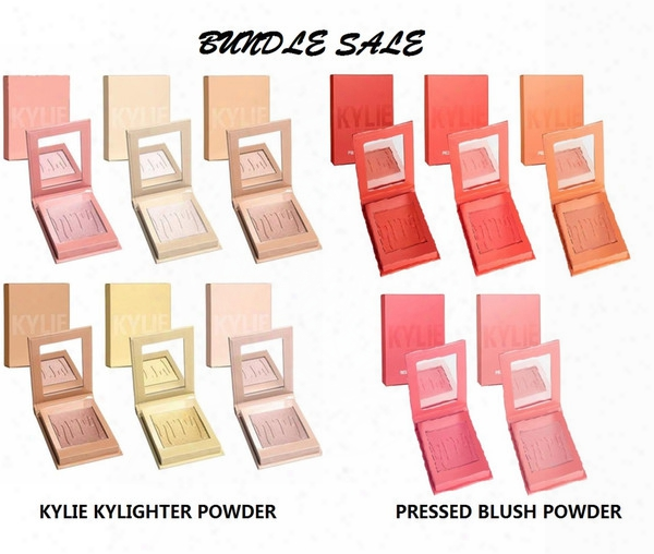 2017 Kylie Face Cosmetics Bundle Sale Kylighter+pressed Redden  Powder 11 Shades Facial Highlighting Contour Blushed Powder Makeup Free Dhl
