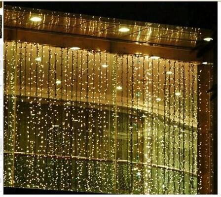 300 Led 3m*3m Curtain String Lights Garden Lamps Chr1stmas Icicle Lights Xmas Wedding Party Decorations 110v-250v.au Us Uk Eu Plug