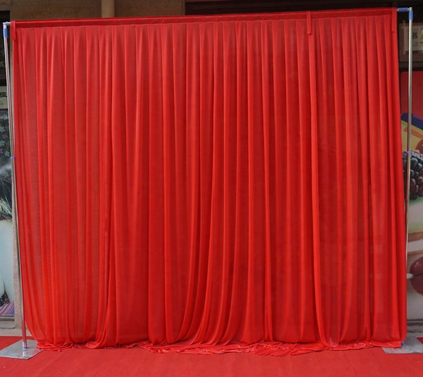 3m*3m Backdrop For Any Color Party Curtain Festival Celebration Wedding Stage Performance Background Drape Drape Wall Valane Backcloth