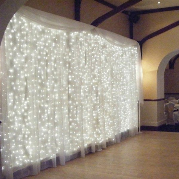 4.5m By 3m 300 Led Icicle Stringligbts Christmas Fairy Lights Outdoor Home For Wedding/party/curtain/garden Decoration