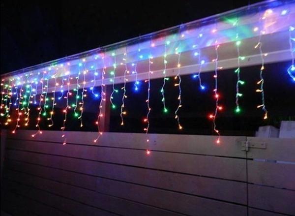 5m 200leds Lights Flashing Lane Led String Icicle Lamps Curtain Christmas Home Garden Festival White 110v-220v Eu Uk Us  Au Plug