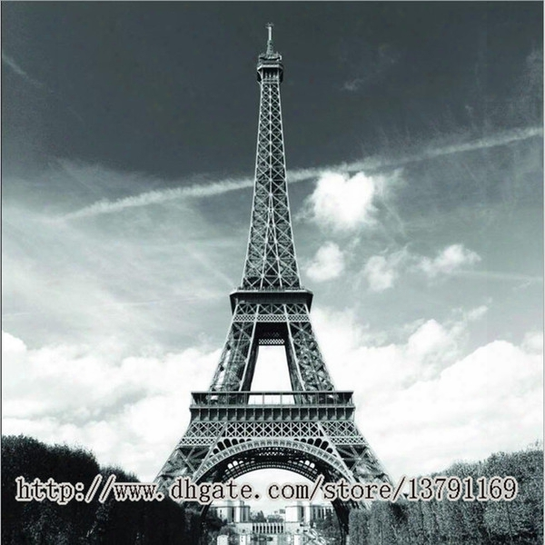 "Famous City Landmark Pattern Soft Fabric Bath Waterproof Shower Curtain 72"" By 72"" Eiffel Tower Paris"
