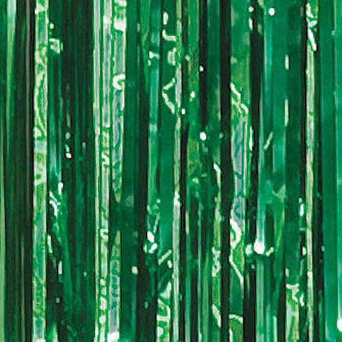 Forest Green Foil Curtains