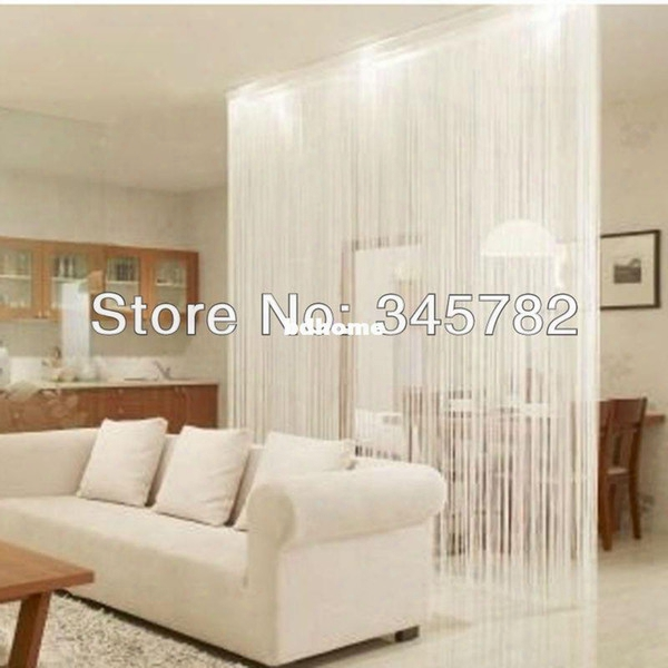 Free Shipping Big Size 300cmx300cm String Curtain, String Panel, Fringe Panel, Room Divider Wedding Drapery 20 Colors.