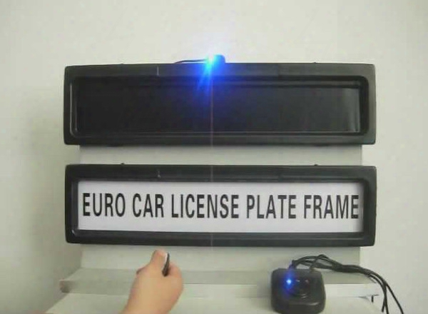 Free Shipping-the New Car Licence Plate Frame, Personality License Plate Frame, Removable Cars Curtain Closed Plate 530*135*25mm