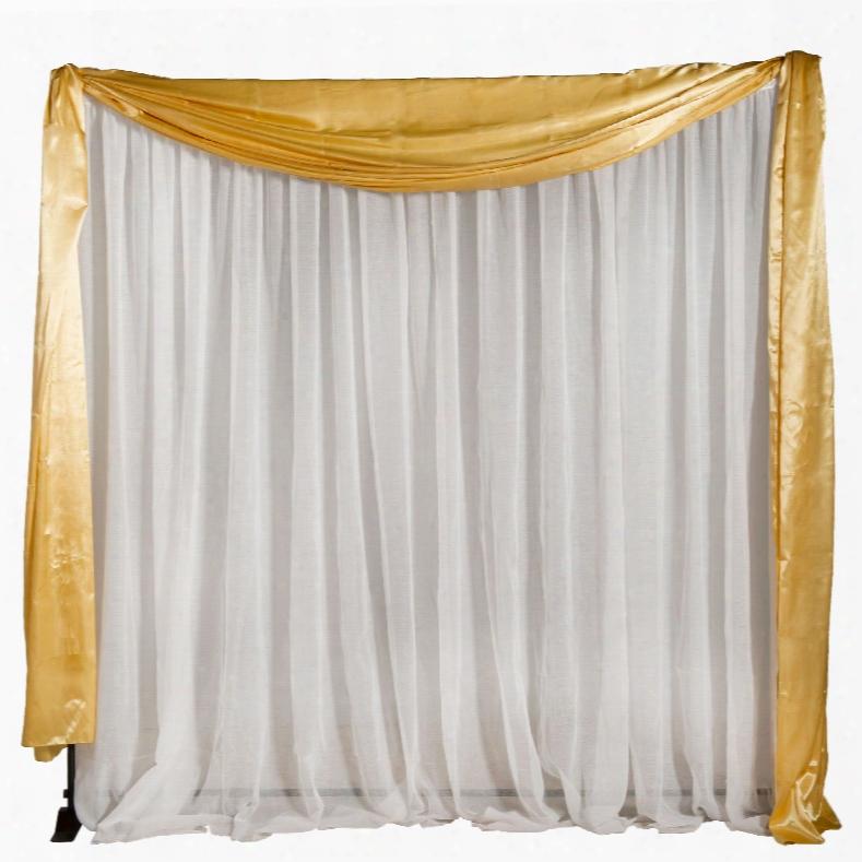 Gold Satin Fabric Valance