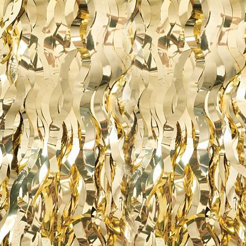 Gold Wavy Curtain