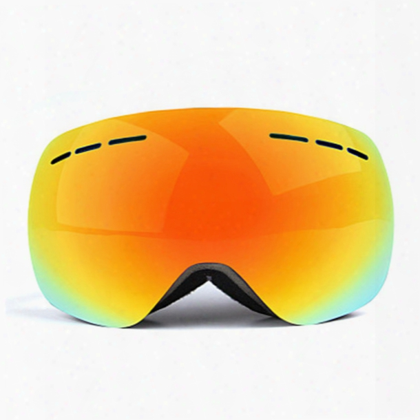 High Quality Panoramic Double Anti-fog Skiing Glasses Anti-uuv Anti-snow Blindness Ski Goggles Winter Riding Protective Goggles
