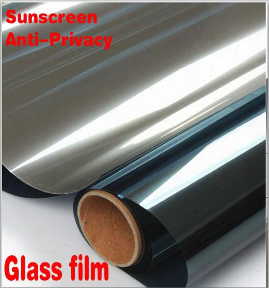 Home Decor Mirror Silver Unidirectional Sunscreen Window Film , Auto Glass Protective Film Protect Anti-privacy Curtain Top Quality