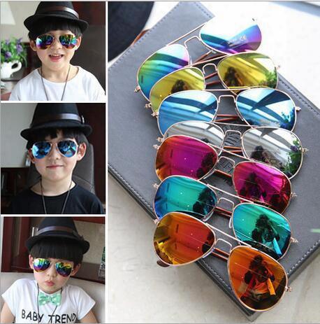 Hot 2017 Design Children Girls Boys Sunglasses Kids Beach Supplies Uv Protective Eyewear Baby Fashion Sunshades Glasses