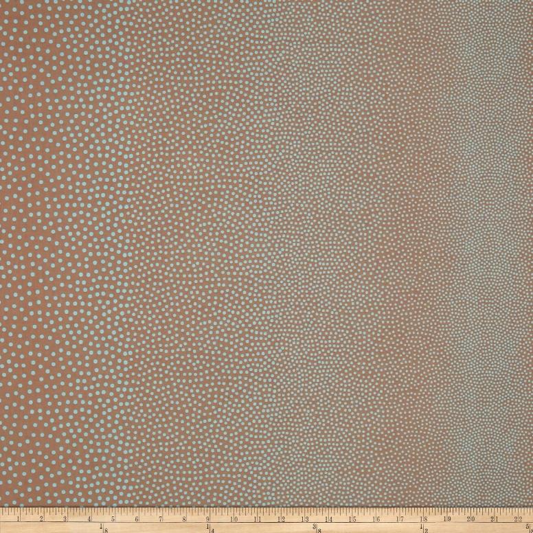 Kanvas Shades Of Winter A Lot A Dots Taupe/aqua Fabric