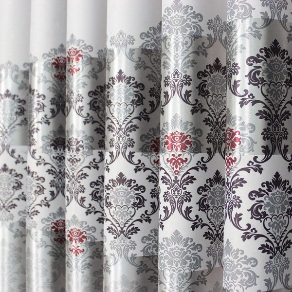 On Sale!curtain Blackout Curtains Forliving Room/ For Hotel Luxury Tulle / Sheer Curtains Ready Made Window Treatment/ Drape Grey