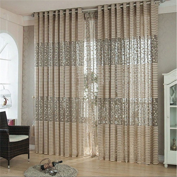 Onnpnnq Branches Leaves Jacquard Curtain Screens For Living Room Bedroom Hollow Simple Breathable Comfort Window Curtains