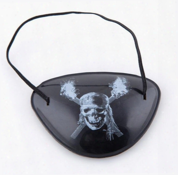 Party Mask Cool Eye Patch Blindage Accessories Pirate One-eye Pirate Eyepatch With Flexible Rope For Christmas Halloween Costume Kids Toy