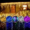 2017 christmas outdoor decoration 3.5m Droop 0.3-0.5m curtain icicle string led lights 220V/110V New year Garden Xmas Wedding Party
