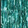 Aquamarine Foil Curtains