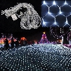 Curtain lights christmas lights 1.5*1.5m 3*2m 6*4m 8*10m led lights Christmas ornament lamp Flash Colored Fairy wedding Decor outdoor light