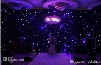 Luxury 2 X 3 Meters Blue-White Color LED Star Curtain Wedding Stage Backdrop Cloth With DMX 512 Controller For Wedding Decorations