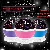 Newest Rotation Night Light Starry Star Moon Sky Romantic Night Projector Light Lam Decorating Wedding, Birthday, Parties Free shipping B967