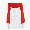 Red Fabric Bunting Curtain