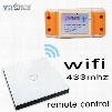 Wholesale- smart home Vhome RF433MHZ wireless Glass panel remote control WIFI receiver, for Touch switches, garage doors, electric curtains