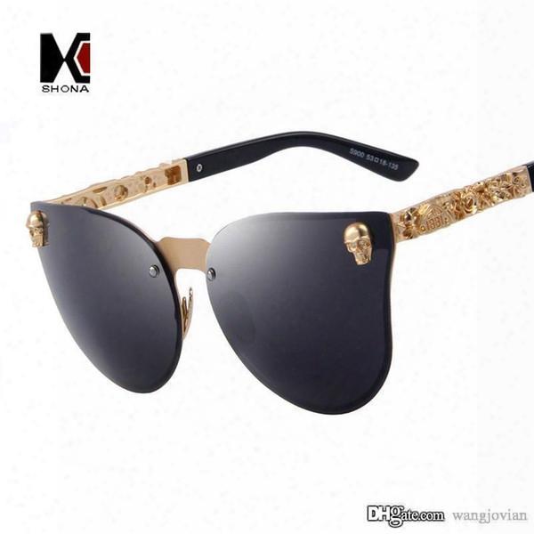 Punk Retro Gothic Sunglasses Crystal Skull Steampunk Sunglasses High Quality Rinestone Cool Women Men Shades Occhiali Da Sole