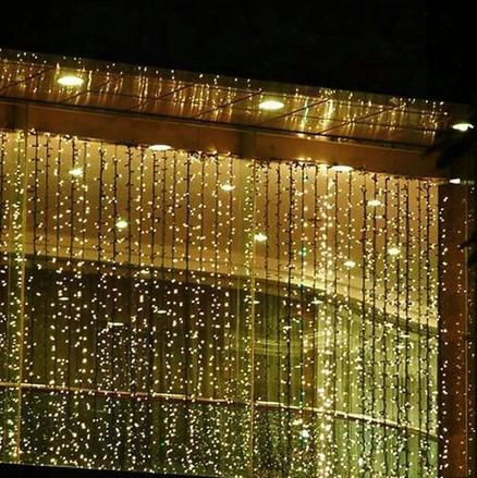 Rgb 300 Leds 3m*3m Led Waterfall Outdoor String Light Christmas Wedding Party Holiday Garden Led Curtain Lights Decoration Ac110v-250v