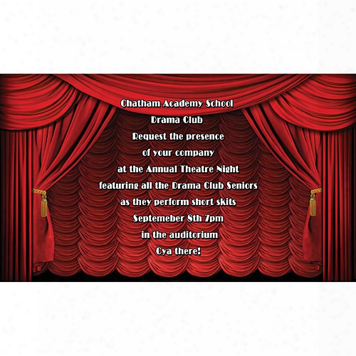 Stage Curtain Invitations