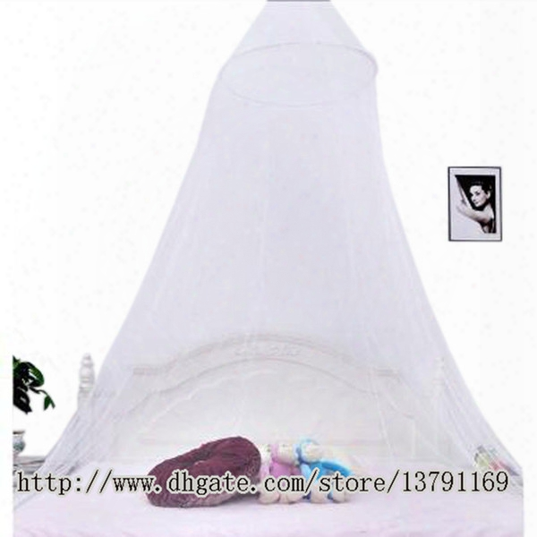 Summer Mosquito Net Elegant Round Lace Bed Canopy Netting Curtain Hang Dome Mosquito Net For Indoor Outdoor White