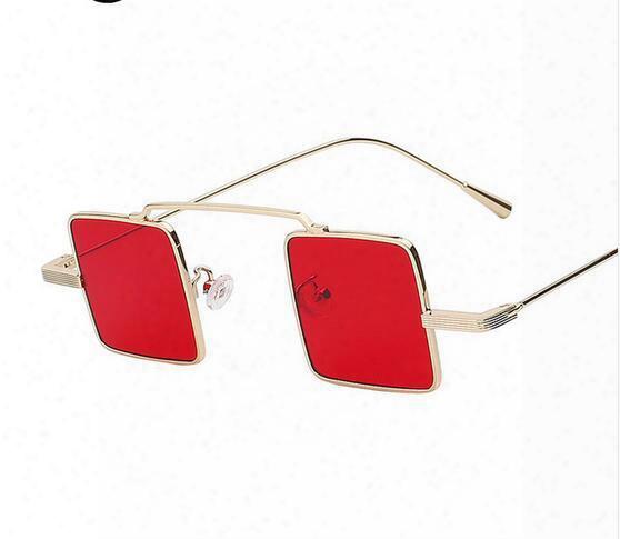 Unique Vintage Sunglasses Men Women Square Shades Clwssic Steampunk Sunglasses Women Brand Designer Fashion Sea Color Lens Uv400