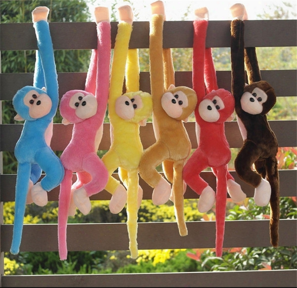 Wholesale-60cm Cute Monkey Plush Toys Long Arm Monkey From Arm To Tail Kids Toys Gift Curtains Monkey Animal Dolls Stuffed Toys Quadcopter