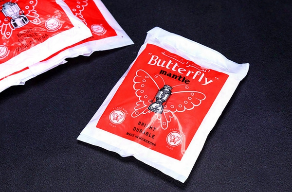 Wholesale-butterfly 36pcs Gas Lantern Mantles No Radiaion Security Pollution Gas Lamp Shade Camping Outdoor Equipment