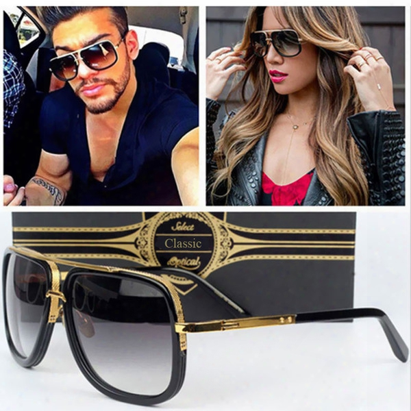 Wholesale- Fashion Square Men Cool Sunglasses Women Luxury Brand Designer Celebrity Sun Glasses Male Driving Superstar Maches Female Shades