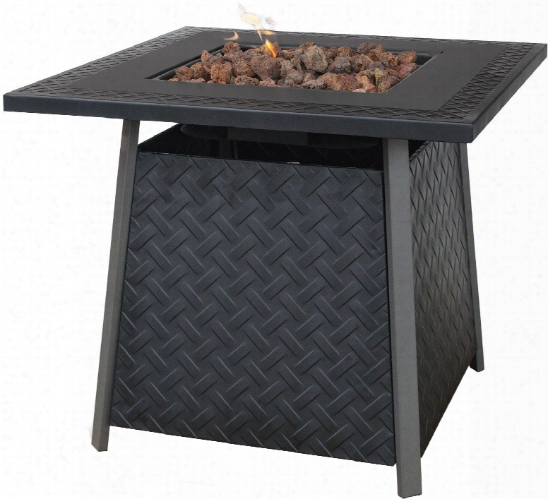Blue Rhino Gad1325sp Outdoor Lp Gas Fireplace With 30,000 Btu, Electronic Ignition, Steel Mantle And Bowl, Lava Rocks Included