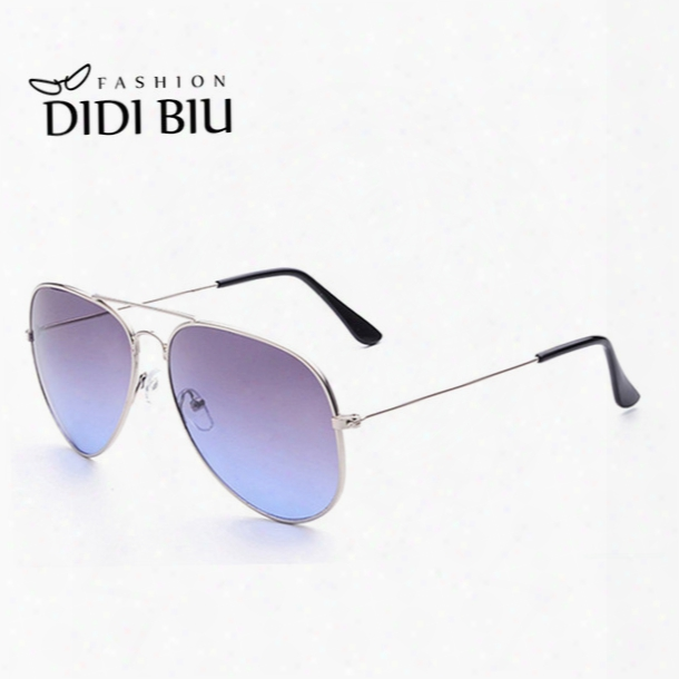 Didi Lovers Rainbow Sunglasses Women Brand Designer Military Aviator Glasses Thin Frame Eyewear Gradient Color Shades Gafas W472