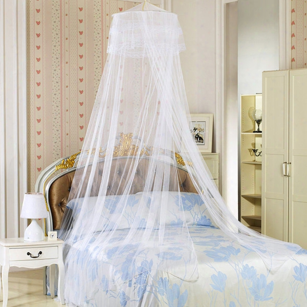 Girls Queen Mosquito Net Comforters Sets Curtain Bed Net Hanging Round Princess Mosquitoes Portable Double Beddings 4 Color 65*260*1260cm