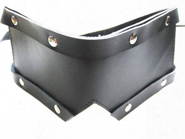 Guniene Leather Eye Mask Blindfold Bondage Gear Bdsm Adult Sex Toys For Women Kinky Play Games Black Xly771