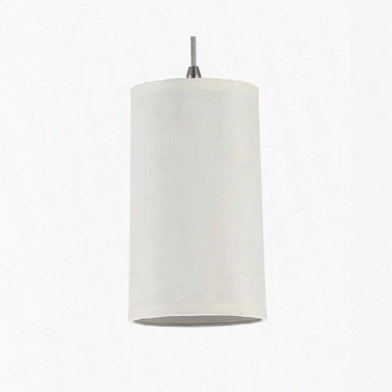 Sea Gull Lighting 94626-992 Pendant Cream Silk Dupion Shades Satin Nickel Finish