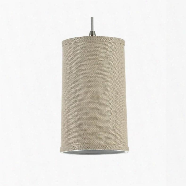 Sea Gull Lighting 94626-994 Pendant With Burlap Shades Satin Nickel Finish