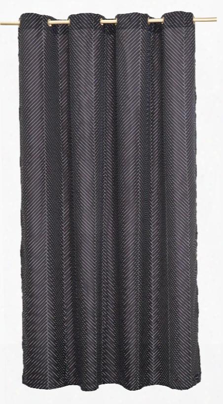 Shower Curtain In Herringbone Design By Oyoy